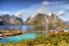 Reine Lofoten Islands Norway Arkivbild