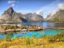 Lofoten Islands Reine Landscape Norway Stock Images