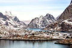 Reine, Lofoten, Norway. The beautiful village of Reine, Lofoten, Norway royalty free stock photo