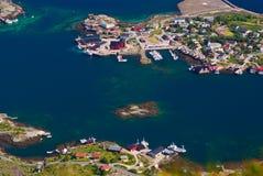 Reine on the Lofoten in Norway Royalty Free Stock Photo
