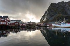 Reine Lofoten Norway Fisher Town photo libre de droits