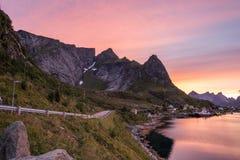 Reine, Lofoten, Norway. Fishing village. Stock Images