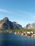 Reine in Lofoten's landscape stock photography