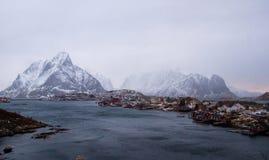 Reine Lofoten - true winter weather Royalty Free Stock Images