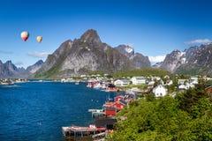Reine Lofotoen. The beautiful small village Reine on the Lofoten Stock Photo