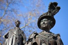 Reine mère Elizabeth et le Roi George IV Image libre de droits