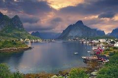 Reine, Norvège Image stock