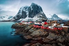 Reine Norway fotografia de stock