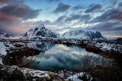 Reine Norway image stock
