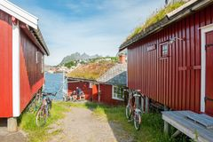 Rorbu cottages in Lofoten Stock Photography