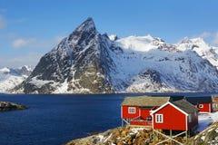 Reine Resort in Lofoten-Archipel stockfoto