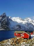 Reine Resort in Lofoten-Archipel stockfotografie