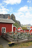 Reine's rorbu village Stock Photos