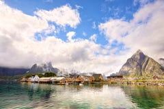Reine and Sakrisoy fishing villages Stock Photo
