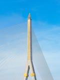 Reine Spekulation des Teils von Hängebrücke Rama 8 konzentrierte sich auf die Spitze stockfotos