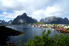 Reine, a village on a Fjord on the Lofoten Islands, Norway Stock Photo