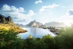 Reine Village, ilhas de Lofoten, Noruega Fotos de Stock