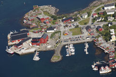 Reine- village on Lofoten islands in Norway Royalty Free Stock Photos