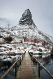 Reine village in winter Stock Photos
