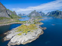Reine w Norwegia obrazy stock
