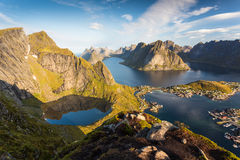 Reinebringen lofoten des îles Photo stock