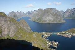Reinefjord from of Reinebringen Stock Images