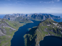 Reinefjorden on Lofoten Stock Photography