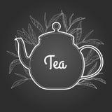 Reiner Tee auf Tafel Auch im corel abgehobenen Betrag Stockbilder
