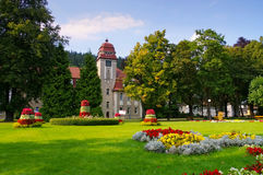 Reinerz mau Duszniki-Zdroj, termas da saúde no vale de Klodzko Fotografia de Stock Royalty Free