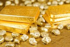 Reines Gold Stockfoto