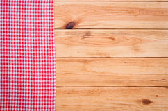 Reines Notizbuch für notierendes Menü, Rezept auf Rot Lizenzfreies Stockfoto