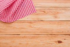 Reines Notizbuch für notierendes Menü, Rezept auf Rot Stockfoto