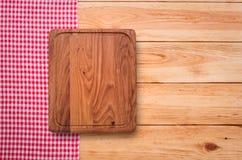 Reines Notizbuch für notierendes Menü, Rezept auf Rot Stockbild