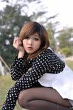 Reines schönes asiatisches Mädchen Lizenzfreies Stockfoto