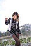 Reines schönes asiatisches Mädchen Stockfotos