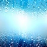Reines Wasser auf Glas Lizenzfreie Stockfotos