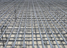 Reinforce iron cage in a construction site Royalty Free Stock Image