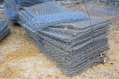 Reinforce iron nets at construction site Stock Images