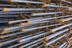 Reinforce steel iron rod Royalty Free Stock Images