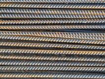 Reinforce steel rod. Texture background stock photo