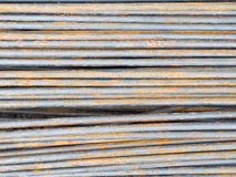 Reinforce steel rod texture. Background Royalty Free Stock Images
