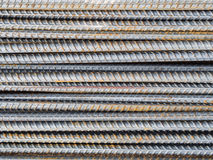 Reinforce steel rod texture Royalty Free Stock Photos