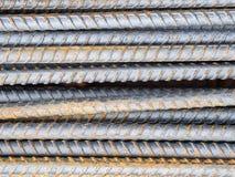 Reinforce steel rod texture Stock Photography