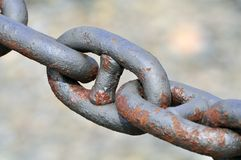 Reinforced chain link Stock Photography