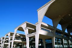 Reinforced concrete architecture. Reinforced concrete modern architecture in Turin, Italy stock photo