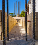 Reinforced concrete beam under construction: Stock Image