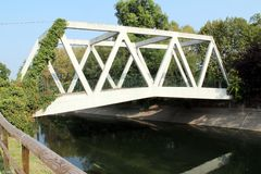 Reinforced concrete the bridge Royalty Free Stock Images