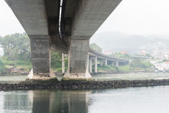 Reinforced concrete bridge over the river. Image of reinforced concrete bridge over the river Stock Photography