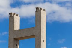 Reinforced concrete columns royalty free stock photography