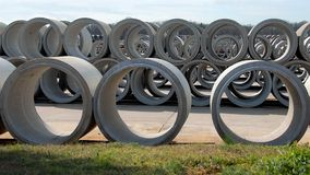 Reinforced concrete pipe Royalty Free Stock Images
